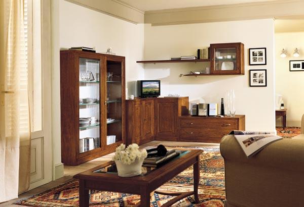 Soggiorni in noce idea - Mobili salone classici ...