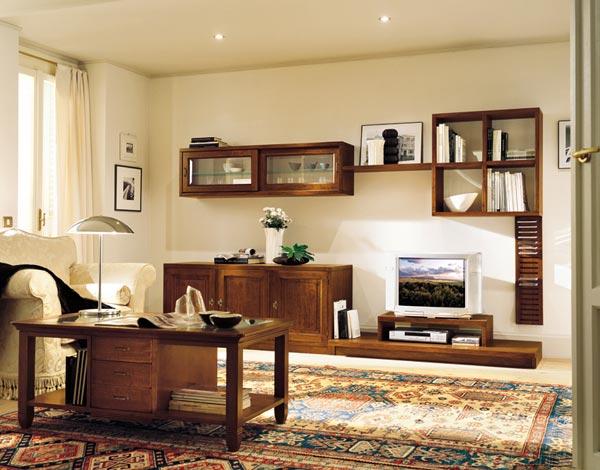 Soggiorno new classic idea solo da for Arredamento soggiorno moderno in legno
