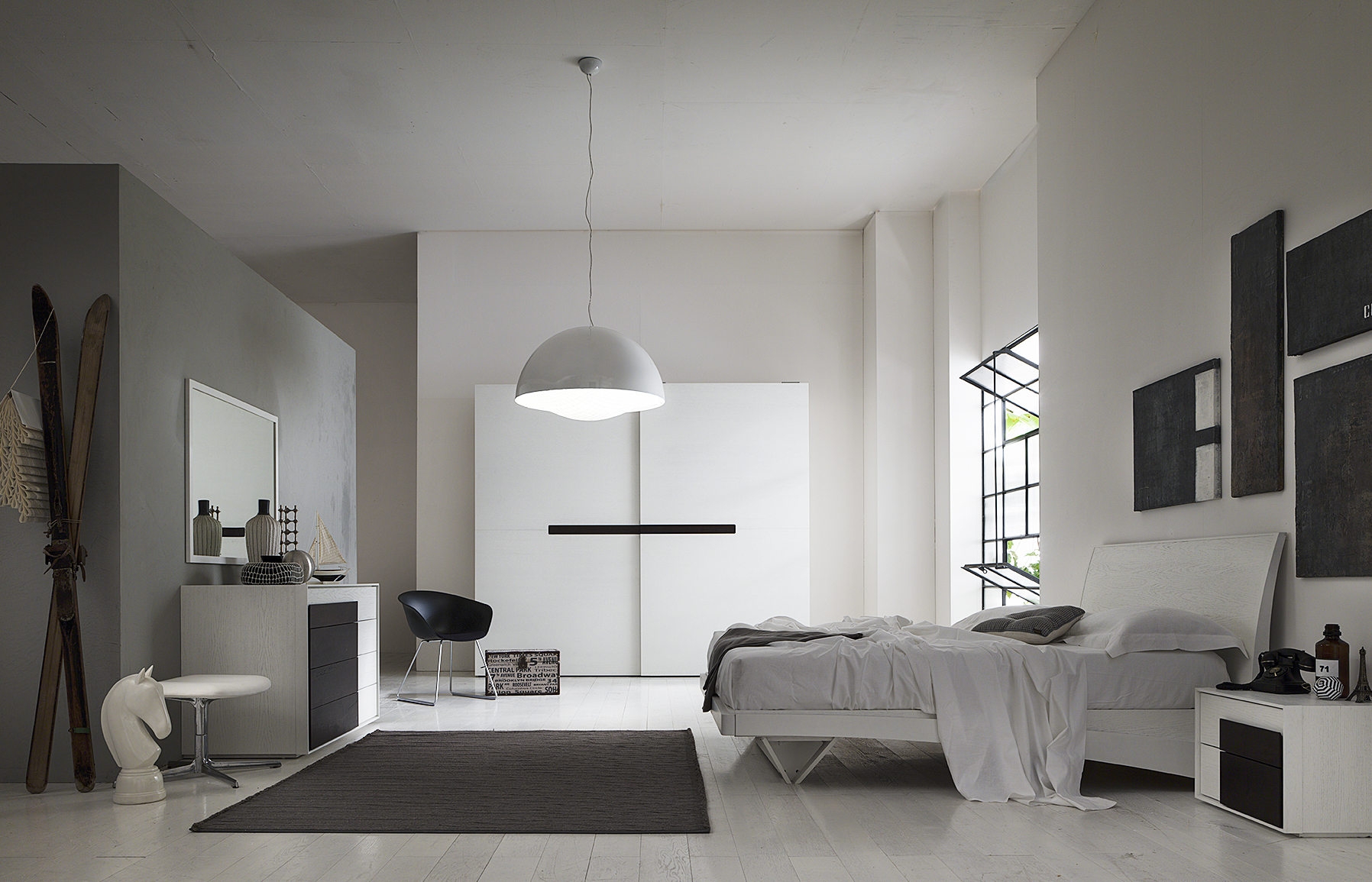 Camera moderna bianca good colori pareti camera da letto il bianco with camera moderna bianca - Camera da letto moderna bianca laccata ...