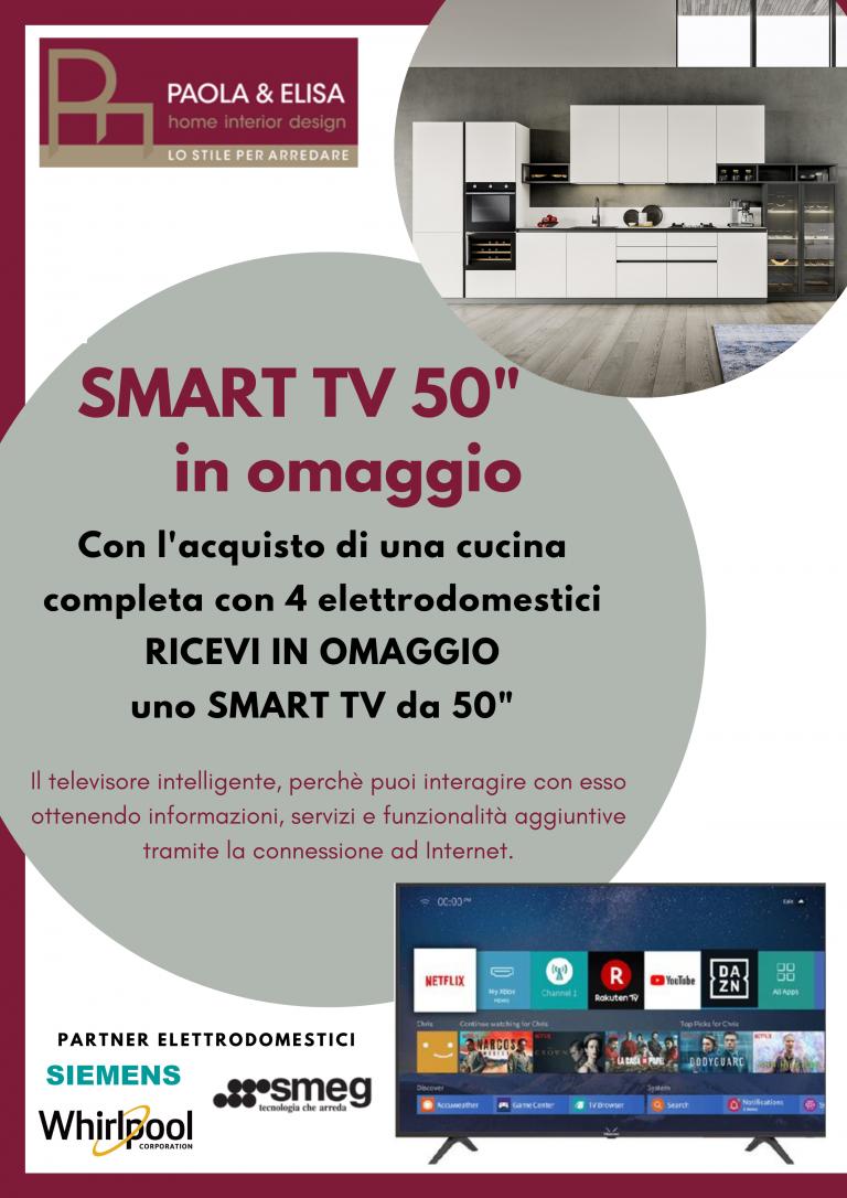 """acquista una cucina completa di 4 elettrodoemstici dei marchi partners e ricevi un tv 50"""" in omaggio, solo da Paola Elisa Mobili"""