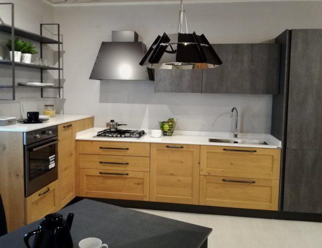cucina ad angolo stile industriale