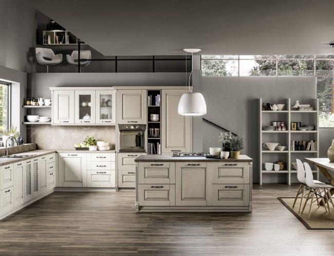 Cucina angolare con lavello sottofinestra Nora da Paola Elisa Mobili