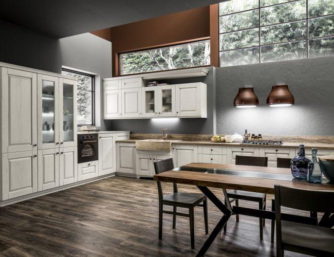 Cucina classica laccata bianco gesso Nora by Arrex