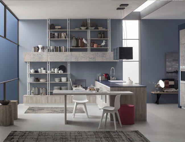 Cucina con colori particolari Modello Lab da Paola Elisa Mobili
