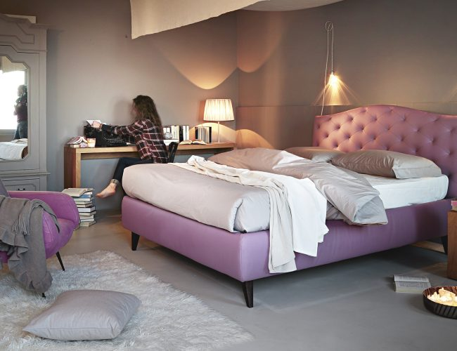Dream letto imbottito capitonè