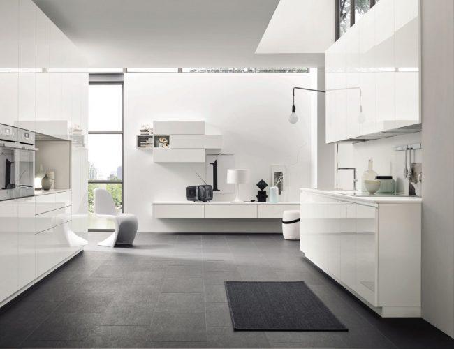 cucina laccata bianca design e funzionalità