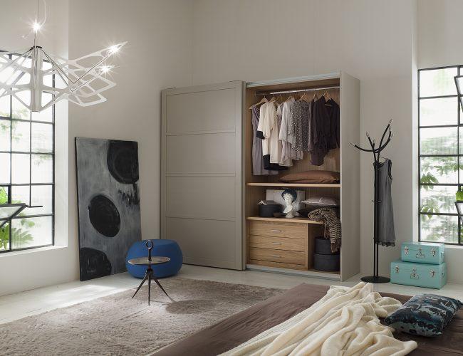 armadio scorrevole artigianale in legno