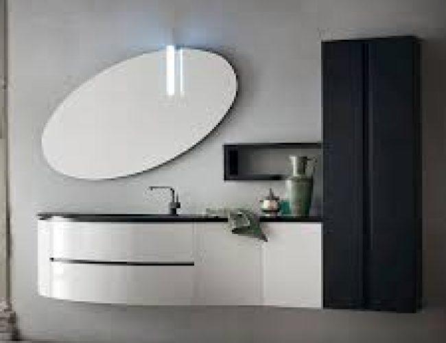 bianco lucido e gole in bagno