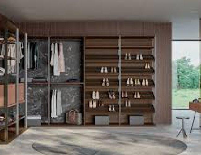 cabina armadio con finiture particolari