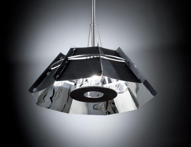 chapeaux-Slamp -lampada a sospensione colore nero
