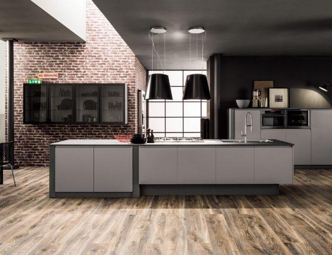 cucina in pet grigio Atlanta Dakota da Paola Elisa Mobili