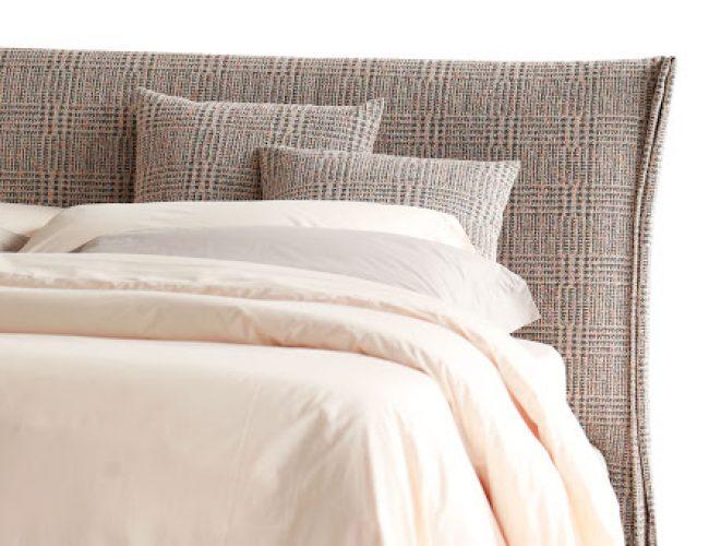 letto imbottito semplice in tessuto sfoderabile