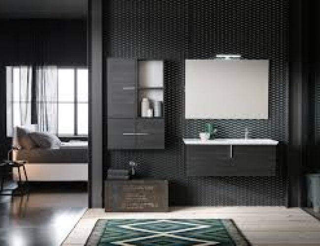 mobile bagno colore scuro