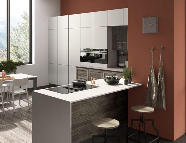soluzioni per creare la penisola in cucina_Paola Elisa Mobili_cucina modello Twin