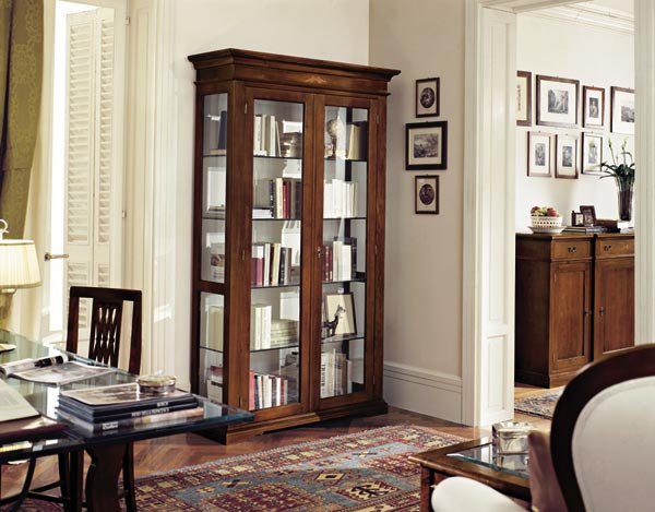 vetrina 2 ante stile classico leggero