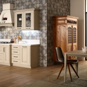 Cucina bassa stile new classic Paola Elisa mobili