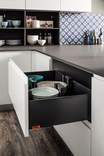 cucina in pet Atlanta Dakota con gola integrata Paola Elisa Mobili