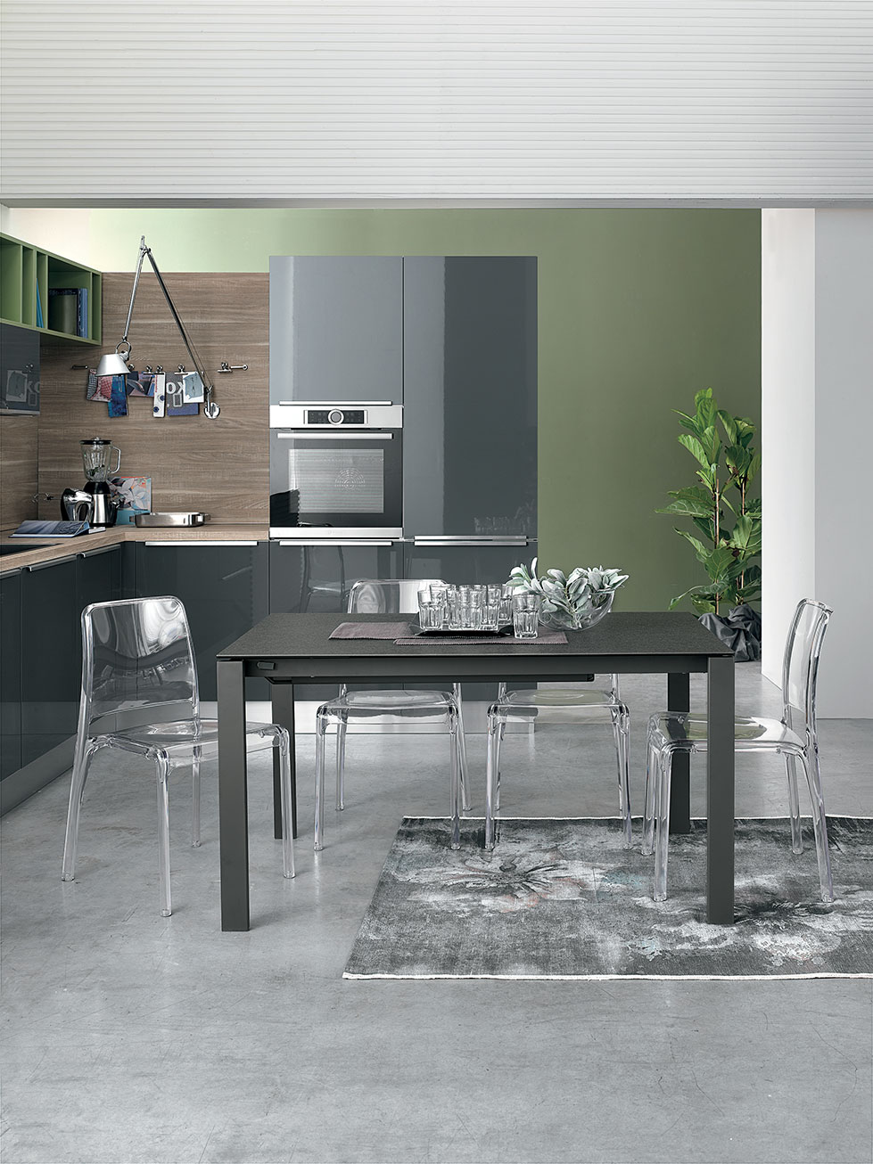 tavolo da cucina o living colore grafite